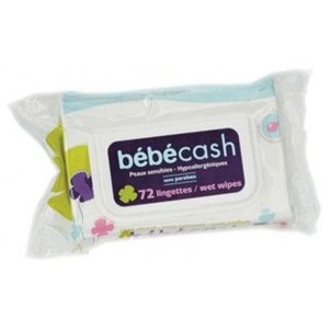 TOALLITAS BEBE CASH SENSITIVE 72 UDS