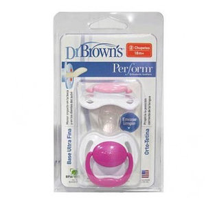 CHUPETE DR BROWN'S PERFORM ROSA 0-6M 2UD