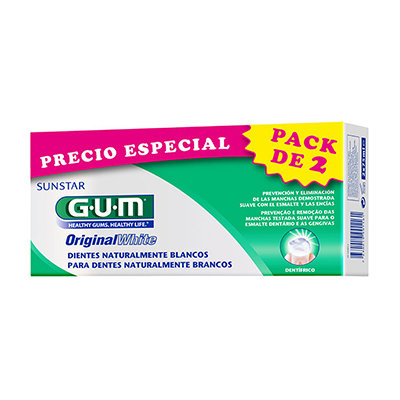 GUM DUO PACK ORIGINAL WHITE PASTA 2X75ML