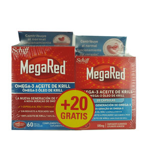 MEGARED 500 OMEGA 3 ACEITE KRILL 60+20