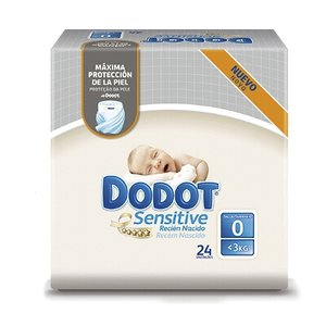 DODOT SENSITIVE R.NAC T.0 HASTA 3KG 24U