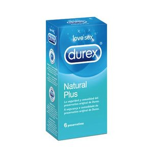 DUREX EASY ON NATURAL PLUS 6 UNID