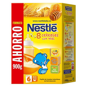 NESTLE 8 CEREALES MIEL 900 G.
