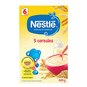 NESTLE 5 CEREALES 600 G.