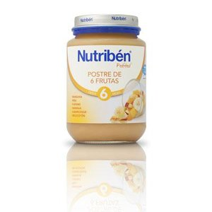 NUTRIBEN JUNIOR POSTRE DE 6 FRUTAS 200GR